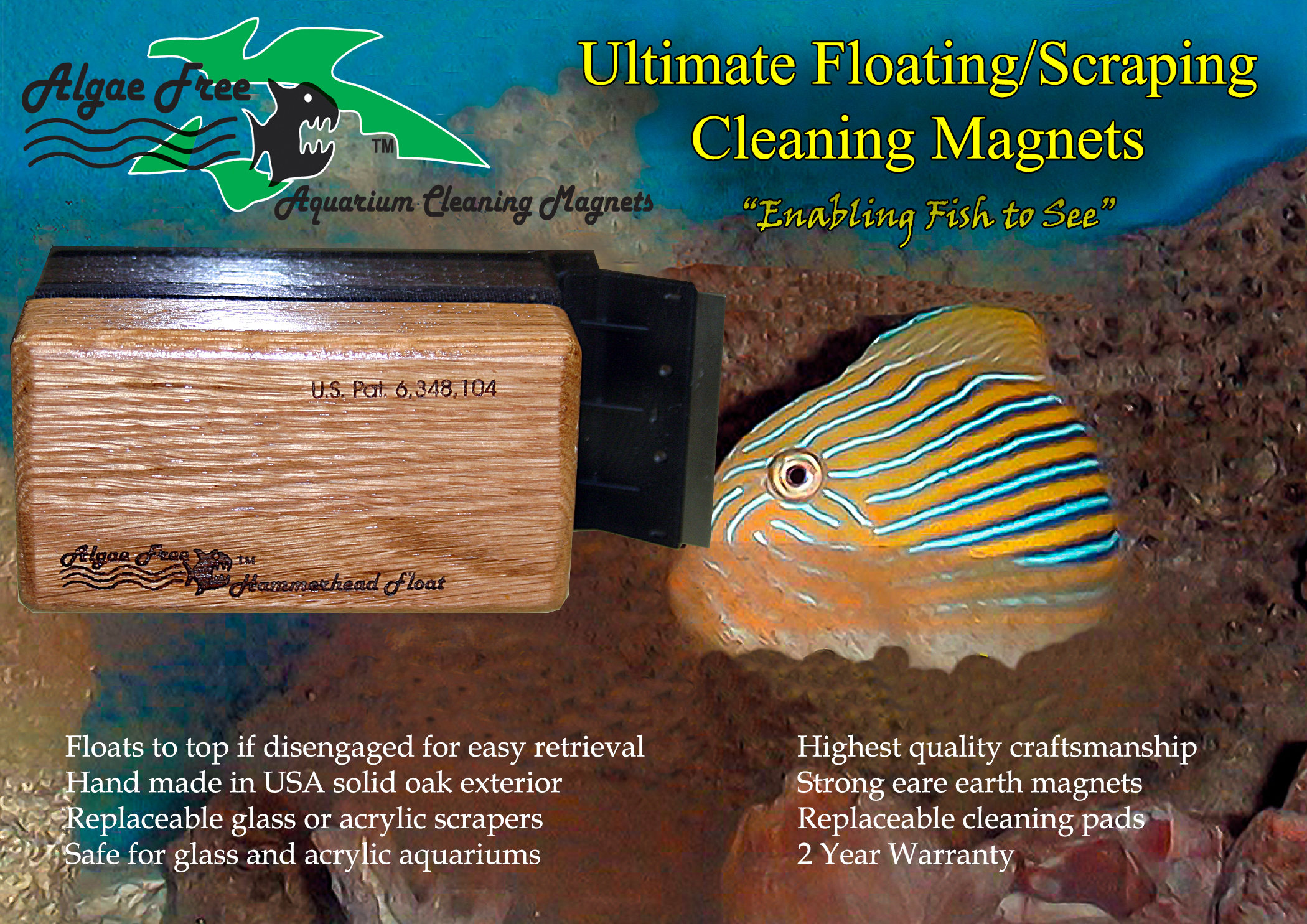 algae free aquarium cleaning magnets